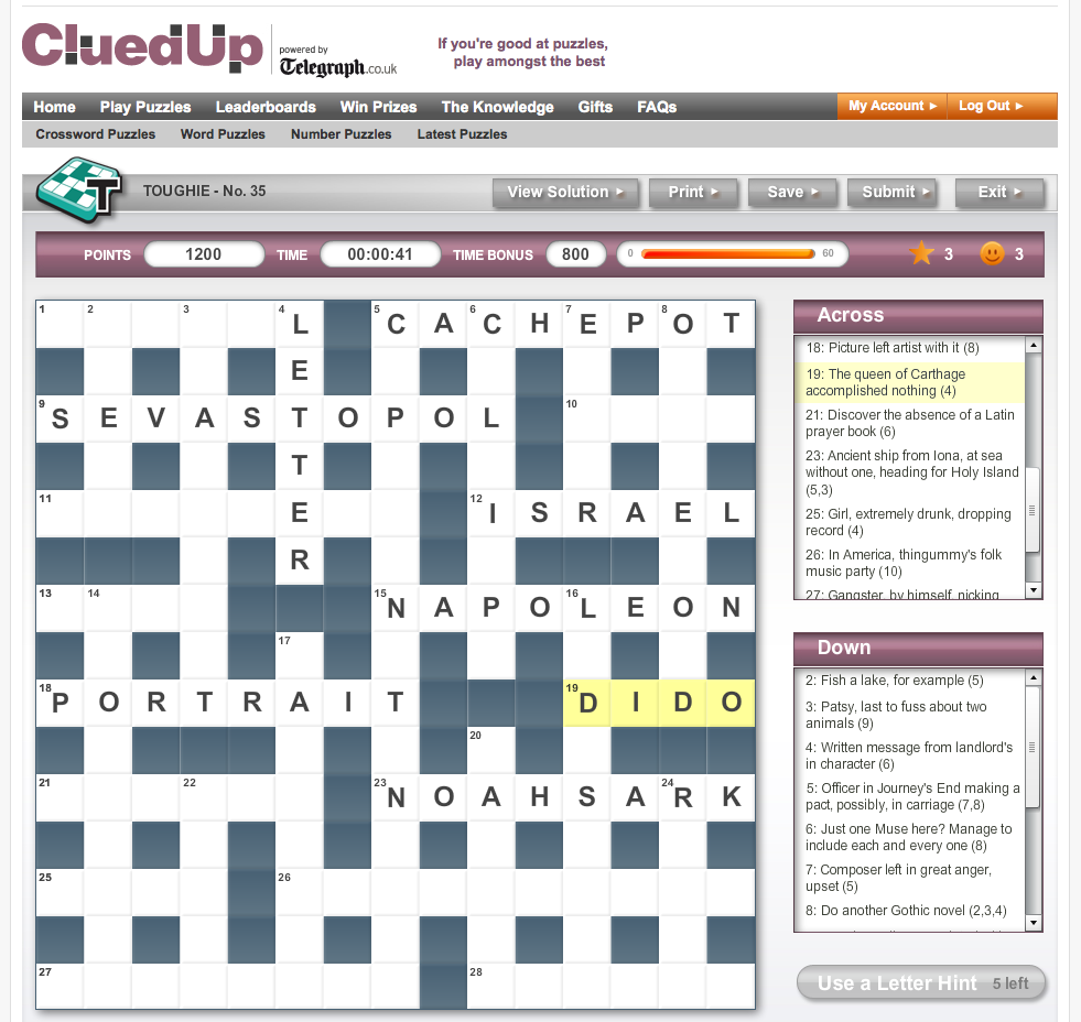 The custom crossword board component subclasses the Flex DataGrid component